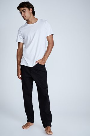 Cotton On Men Relaxed Tapered Jean - New black