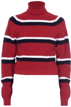 Marni Women Turtlenecks - Roll-neck Striped Wool Sweater - Womens - Multi