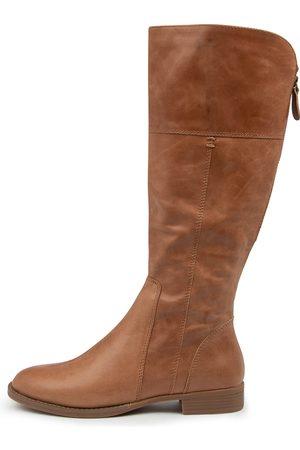 Django & Juliette Women Knee High Boots - Prago Dj Tan Boots Womens Shoes Casual Long Boots