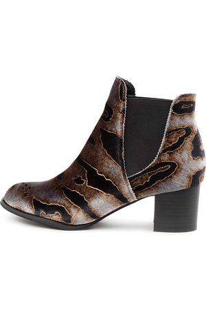 I LOVE BILLY Women Ankle Boots - Jalises Taupe Animal Boots Womens Shoes Casual Ankle Boots