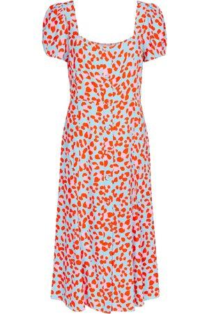 Diane von Furstenberg Elena leopard-print crêpe midi dress