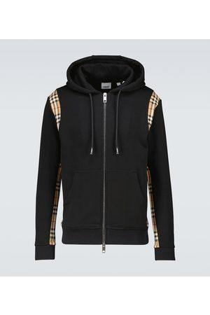 Burberry Men Hoodies - Checker zipped hooded sweatshirt