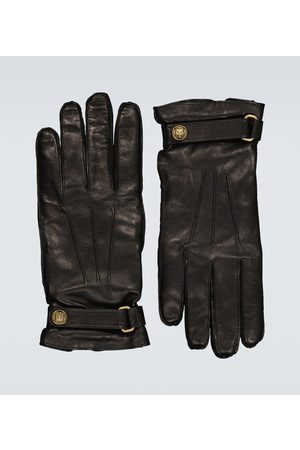 Gucci Men Gloves - Cashmere-lined leather gloves