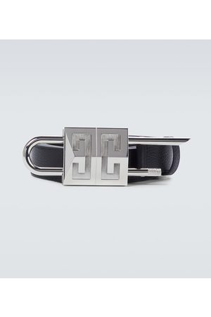 Givenchy Grained leather padlock belt