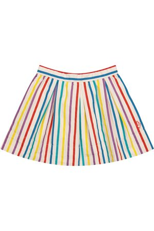 The Animals Observatory Girls Printed Skirts - Striped cotton skirt