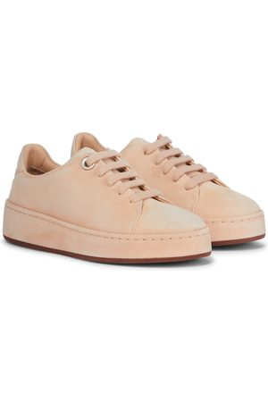 Loro Piana Kids Suede sneakers