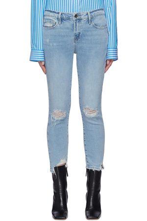 Frame Le Garcon' distressed crop skinny jeans