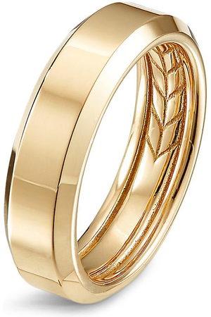 David Yurman Beveled' 18k gold ring