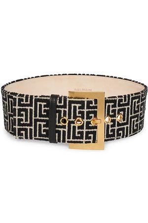 Balmain Belts - Large Monogram Jacquard Belt