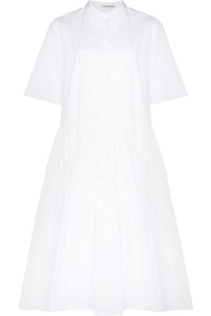 Cecilie Bahnsen Women Casual Dresses - Primrose tiered shirtdress