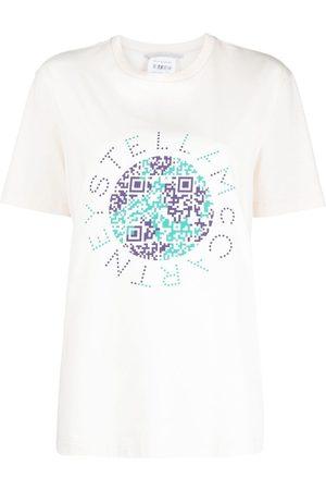 Stella McCartney QR code earth-print T-shirt