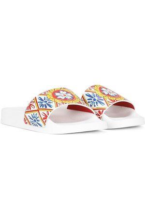 Dolce & Gabbana Girls Thongs - Printed flat slides