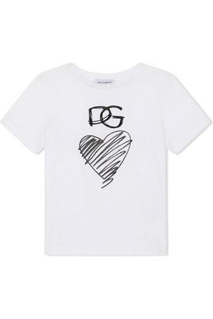 Dolce & Gabbana Heart and logo-print T-shirt