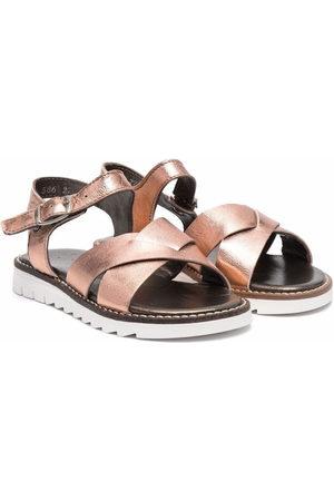 PèPè Effect leather sandals