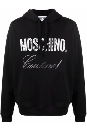 Moschino Men Hoodies - Couture crystal-embellished hoodie