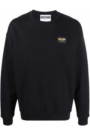 Moschino Men Sweatshirts - Logo-plaque long-sleeve sweatshirt