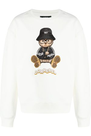 DOMREBEL NY Bear graphic-print sweatshirt