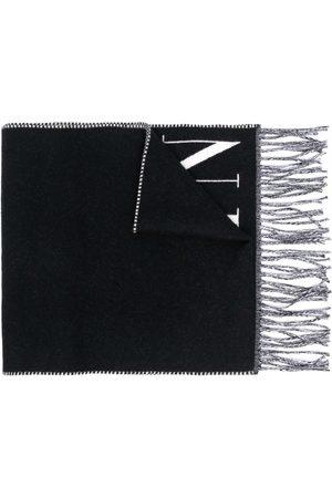 VALENTINO Men Scarves - VLTN knitted logo scarf