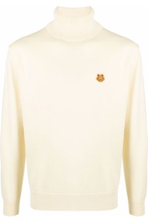 Kenzo Roll-neck tiger-patch jumper