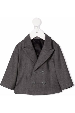 Balmain Blazers - Cropped double-breasted jacket