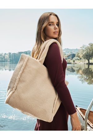 Forever New Layla Shearling Tote Bag