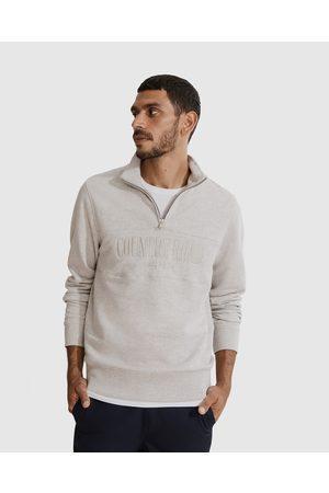 Country Road Men Sweatshirts - Verified Australian Cotton Half Zip Heritage Sweat - Sweats Verified Australian Cotton Half Zip Heritage Sweat