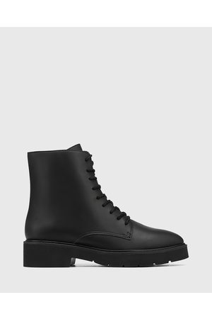 Wittner Carlina Leather Lace Up Ankle Boots - Boots Carlina Leather Lace Up Ankle Boots
