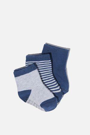 Cotton On Kids Baby Socks - 3Pk Baby Socks - Blue