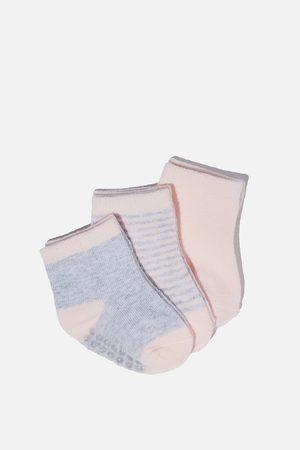 Cotton On Kids Baby Socks - 3Pk Baby Socks - Pink