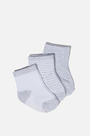 Cotton On Kids Baby Socks - 3Pk Baby Socks - Grey marle