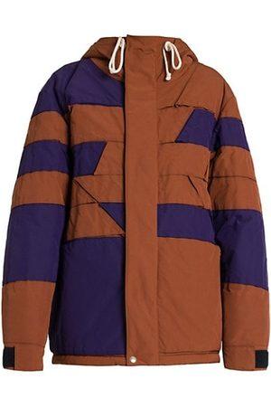 Plan C Geometric Puffer Jacket