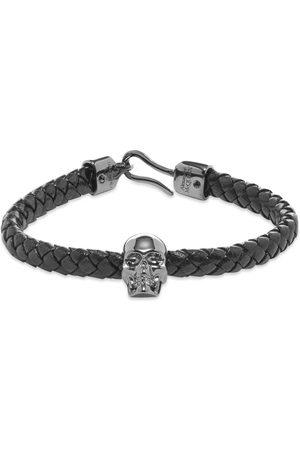 Alexander McQueen Men Bracelets - Leather Skull Bracelet