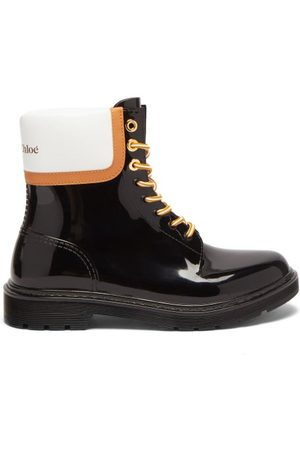 See By Chloé - Logo Leather-panel Pvc Rain Boots - Womens