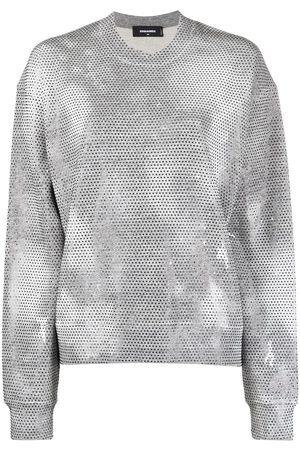 Dsquared2 Women Sweatshirts - Falling Diamonds perforated sweatshirt