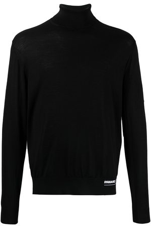 Dsquared2 Logo-patch roll-neck jumper