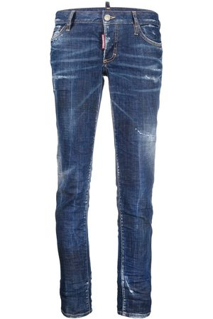 Dsquared2 Women Skinny - Distressed-effect cropped skinny jeans