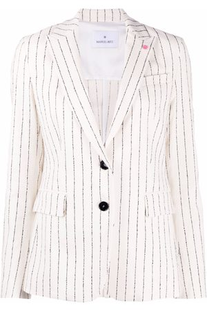 Manuel Ritz Striped single-breasted blazer