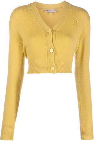 Emilio Pucci Women Cardigans - Logo-embroidered cashmere cardigan