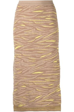 Stella McCartney Women Printed Skirts - Animal pattern knitted skirt