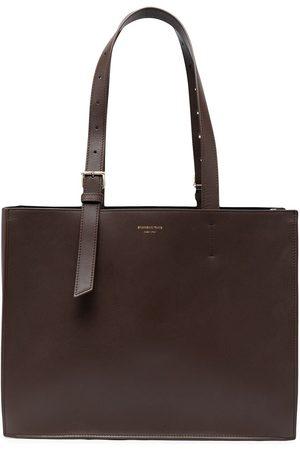 SHANGHAI TANG X Yuni Ahn East West leather tote bag