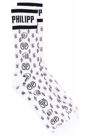 Philipp Plein Monogram-pattern socks