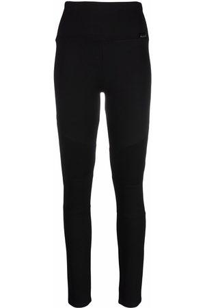 Philipp Plein Women Leggings - Ribbed-panel biker leggings
