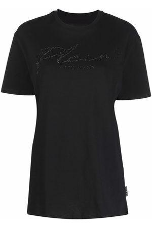 Philipp Plein Women Short Sleeve - Signature crystal-embellished T-shirt