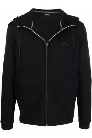 HUGO BOSS Men Hoodies - Zip-front logo hoodie