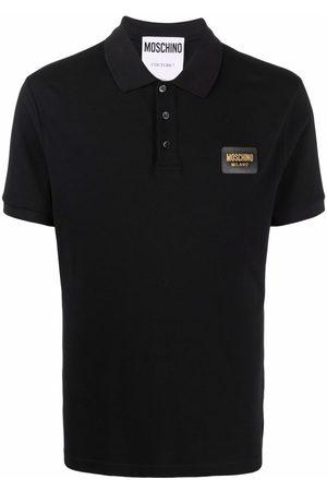 Moschino Men Polo Shirts - Logo-plaque polo shirt