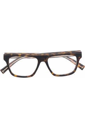 Givenchy Tortoiseshell-effect rectangle-frame glasses