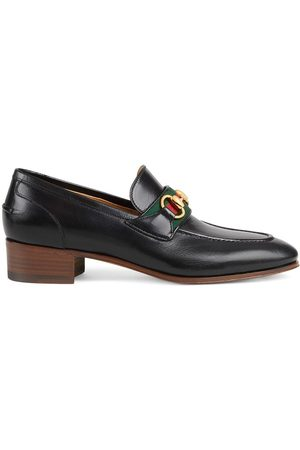 Gucci Women Loafers - Horsebit and Web leather loafers