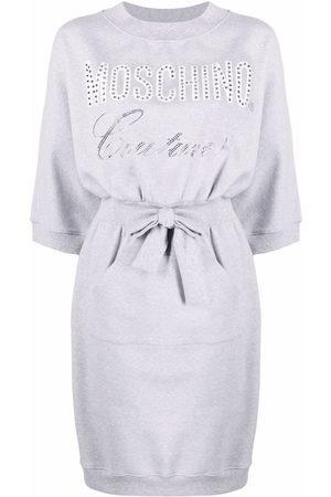 Moschino Women Work Dresses - Crystal-logo jersey dress
