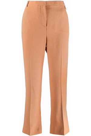 VERSACE Mid-rise cropped trousers