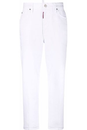 Dsquared2 Women Straight - Cropped straight-leg jeans